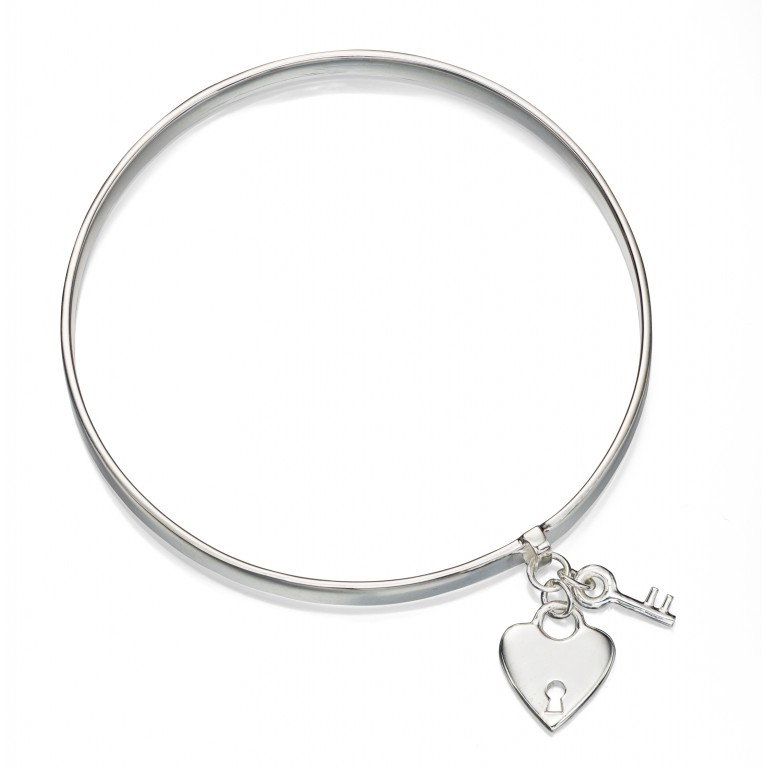 Bangle With Padlock & Key