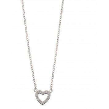 Cz Pave Heart Necklace