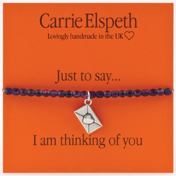 Carrie Elspeth I Am Thinking Of You Sentiment Bracelet