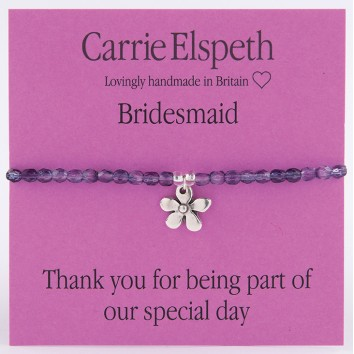Carrie Elspeth Bridesmaid Sentiment Bracelet