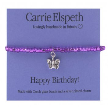 Carrie Elspeth Happy Birthday Sentiment Mini Bracelet