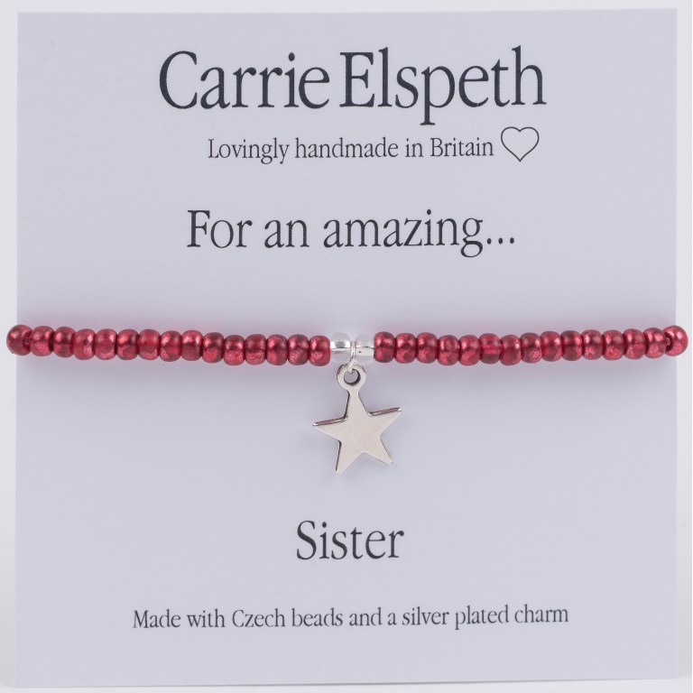 Carrie Elspeth For An Amazing Sister Sentiment Bracelet