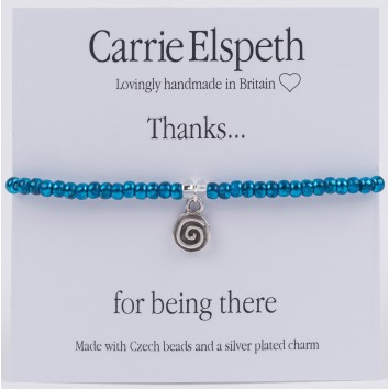 Carrie Elspeth Thanks For Being There Sentiment Bracelet