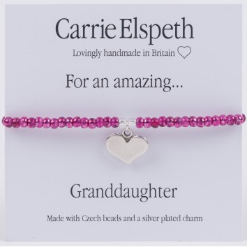 Carrie Elspeth For An Amazing Granddaughter Sentiment Bracelet