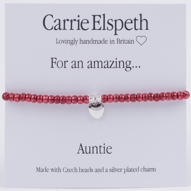 Carrie Elspeth For An Amazing Auntie Sentiment Bracelet