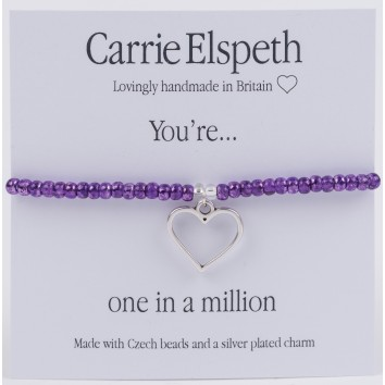 Carrie Elspeth You're One In A Million Sentiment Bracelet