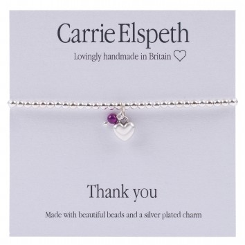 Carrie Elspeth Thank You Sentiment Bracelet