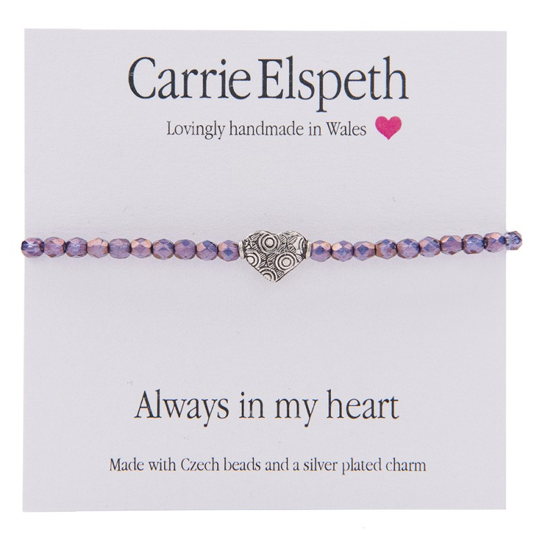 Carrie Elspeth Always In My Heart Sentiment Bracelet
