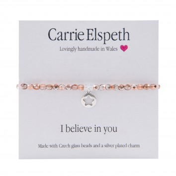 Carrie Elspeth I Believe In You Sentiment Bracelet