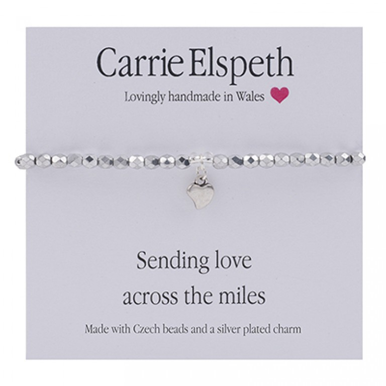 Carrie Elspeth Sending Love Across The Miles Sentiment Bracelet