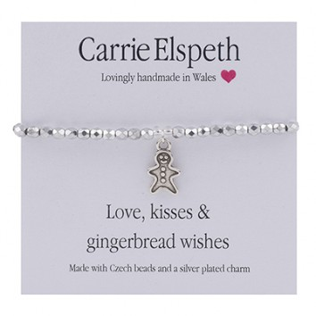 Carrie Elspeth Love, Kisses & Gingerbread Wishes Sentiment Bracelet
