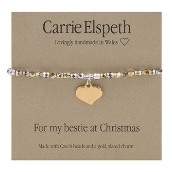 Carrie Elspeth For My Bestie At Christmas Sentiment Bracelet