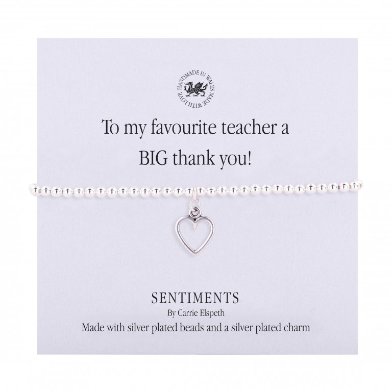 Carrie Elspeth To My Favourite Teacher A BIG Thank You Bracelet - Limited Edition
