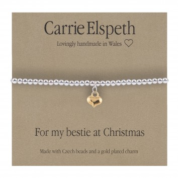Carrie Elspeth For My Bestie At Christmas Silver Sentiment Bracelet
