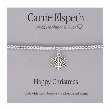 Carrie Elspeth Happy Christmas Sentiment Bracelet