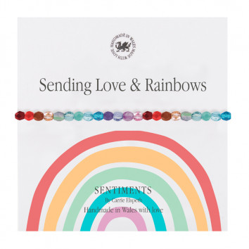 Carrie Elspeth Sending Love And Rainbows Sentiment Bracelet