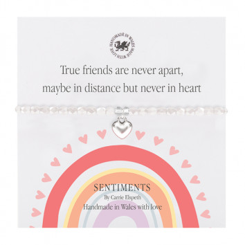 Carrie Elspeth True Friends Are Never Apart, Maybe In Distance But Never Apart Bracelet