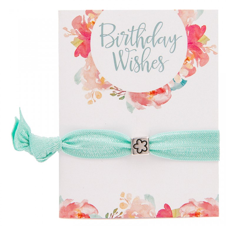 Carrie Elspeth Birthday Wishes Greeting Card & MyColourband