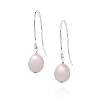Claudia Bradby Baroque White Drop Earrings