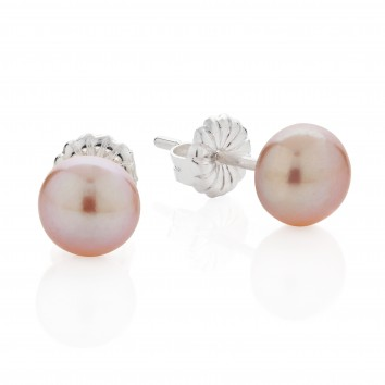 Claudia Bradby Button Pink Studs