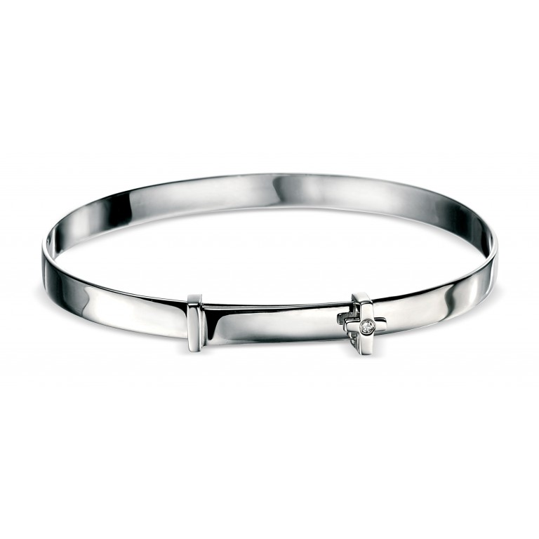 D for Diamond Cross Bangle for Boys