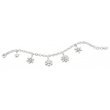 D for Diamond Snowflake Charm Bracelet