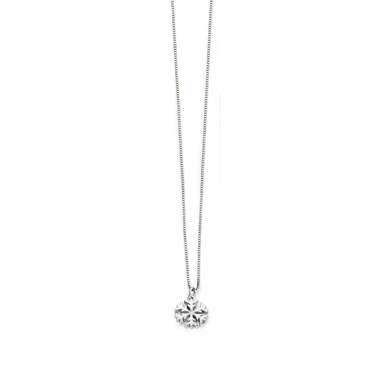 D for Diamond Snowflake Pendant