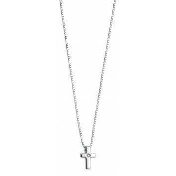 D for Diamond Children's Christening Classic Diamond Cross Pendant
