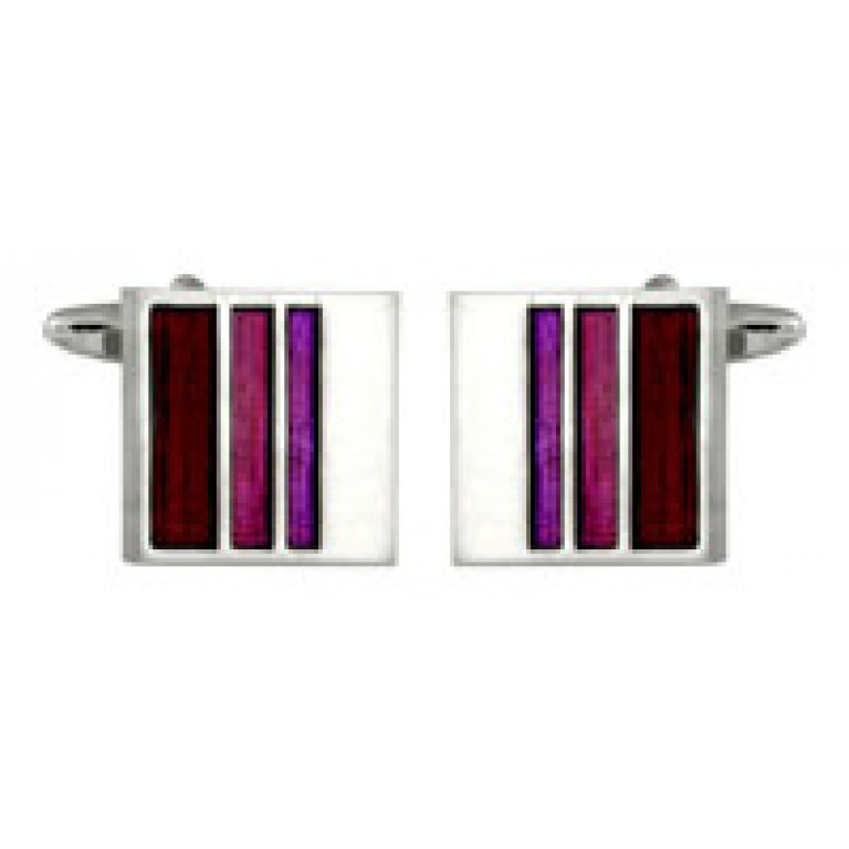 Dalaco Graduated Purple Stripe Cufflinks
