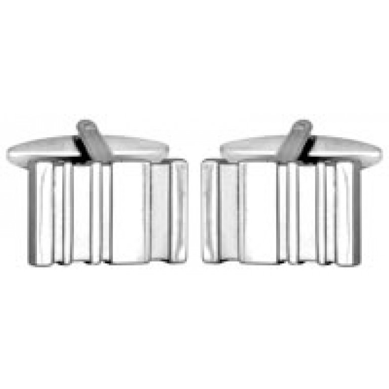 Dalaco Shiny/Brushed Rectangular Cufflinks
