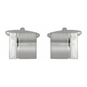 Dalaco Curved Square Brushed/Polished Cufflinks