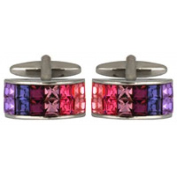 Dalaco Multicolour Crystal Cufflinks