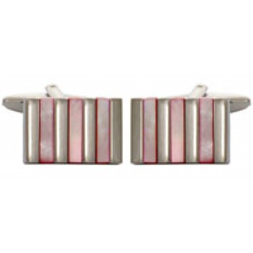 Dalaco Pink Cats Eye Stripes Cufflinks
