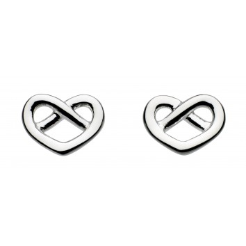 Dew St Crossed Heart Stud Earrings