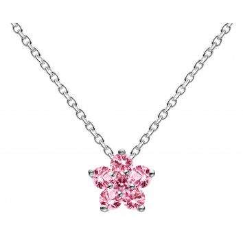 Dew Dr Pink Flower Necklace
