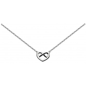 Dew Dr Crossed Heart Necklace