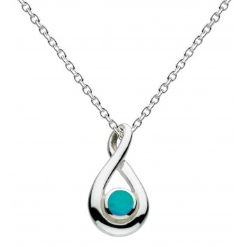 Dew Dr Blue Synthetic Opal Twist Pendant