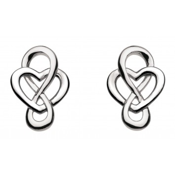 Heritage St Celtic Looped Heart Stud Earrings