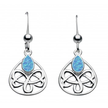 Heritage Dr Celtic Looped Teardrop Earrings