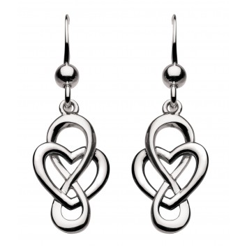 Heritage Dr Celtic Looped Heart Drop Earrings