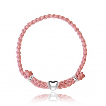 Joma Jewellery Luella Friendship Bracelet Watermelon Pink