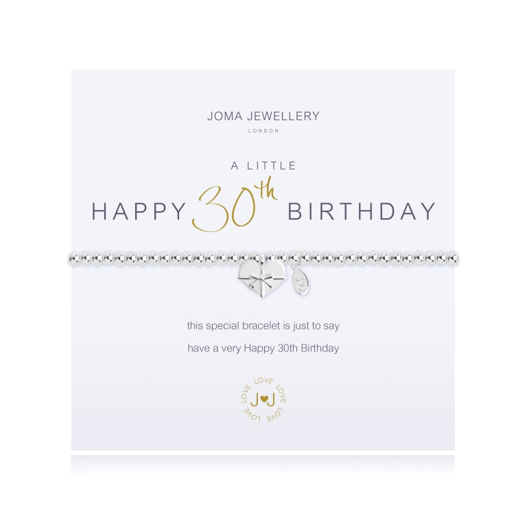 Joma Jewellery A Little Happy 30th Birthday Bracelet