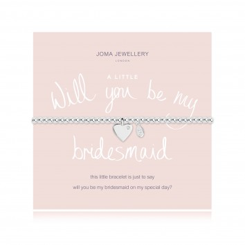 Joma Jewellery A Little Will You Be My Bridesmaid Bracelet