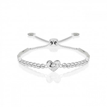 Joma Jewellery Hammered Heart Ball Friendship Bracelet