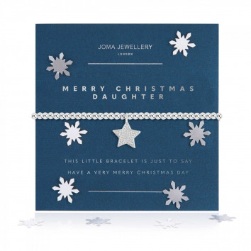 Joma Jewellery A Little Merry Christmas Daughter Bracelet