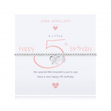 Joma Jewellery Girls A Little Happy 5th Birthday Bracelet