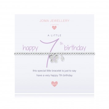 Joma Jewellery Girls A Little Happy 7th Birthday Bracelet