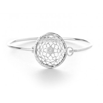 Synergy Jewellery Zen Flower Bangle Silver
