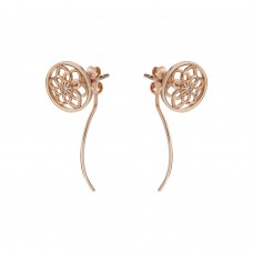 Synergy Jewellery Zen Flower Earrings Rose Gold