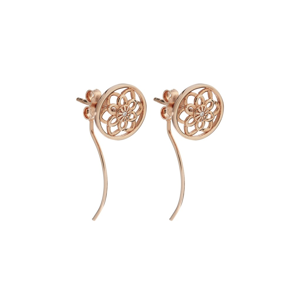 851242d90a7 Synergy Jewellery Zen Flower Earrings Rose Gold